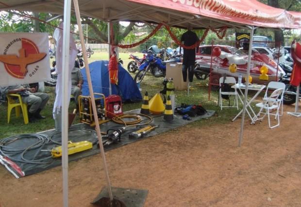 Bombeiros de Formosa fazem trabalho preventivo durante o 1º Encontro de Motociclistas
