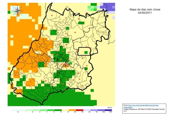 Mapa Modelo Dias sem Chuva