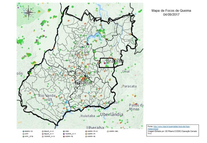 Mapa Modelo Focos de Queima
