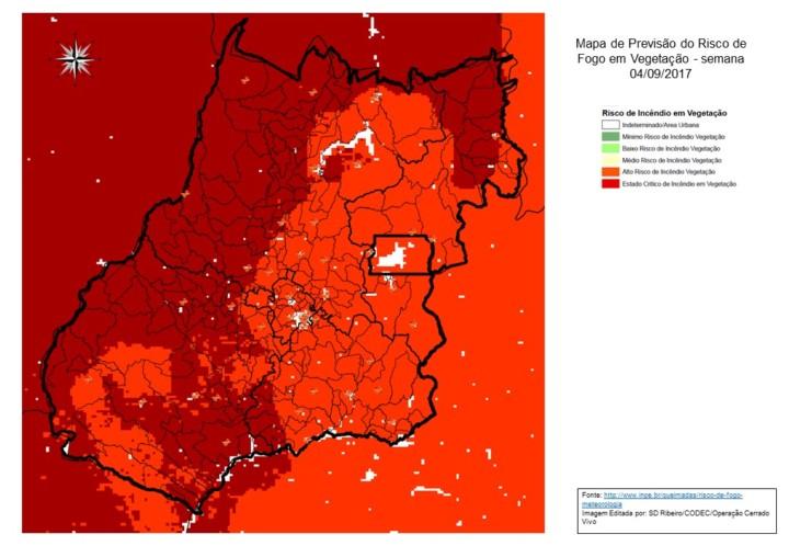 Mapa Modelo Previs_o Risco de Fogo - semana