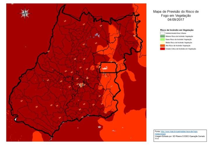 Mapa Modelo Previs_o Risco de Fogo
