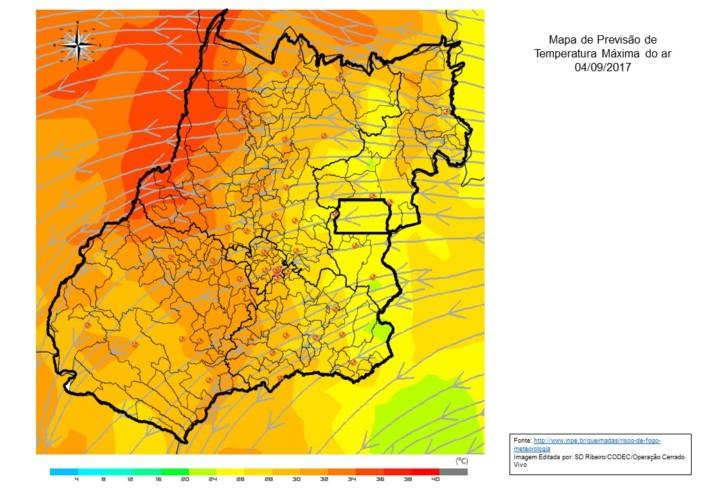 Mapa Modelo Previs_o de Temperatura