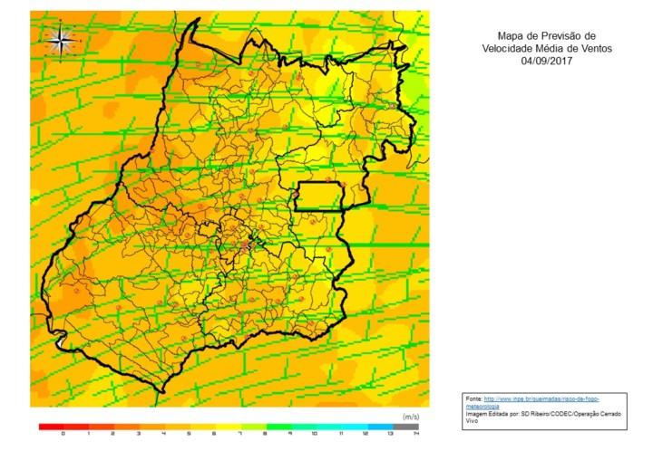 Mapa Modelo Velocidade M_dia Ventos